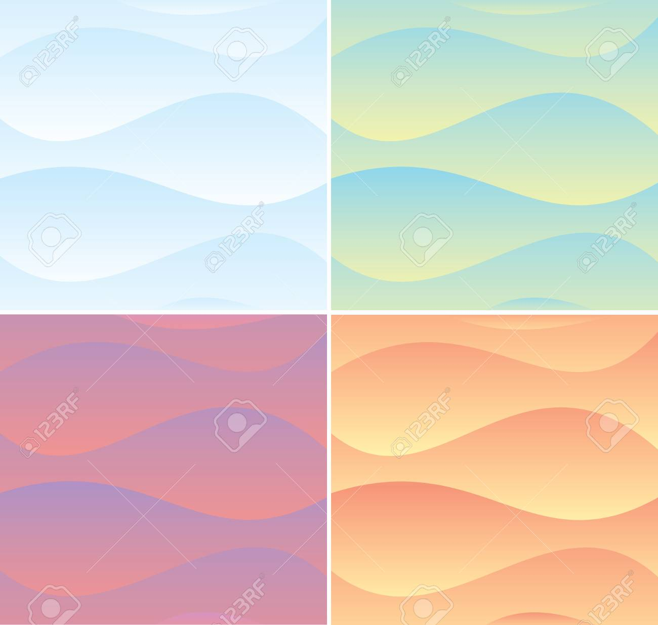 Set of Soft Waving Backgrounds  Vector Graphics Stock Vector - 17919173
