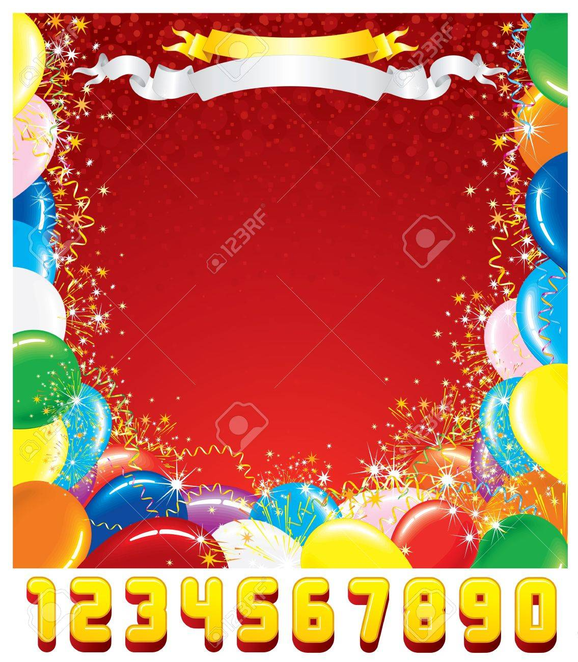 Customizable greeting card festive birthday background with customizable greeting card festive birthday background with set of shiny numbers create your own birthday card kristyandbryce Images