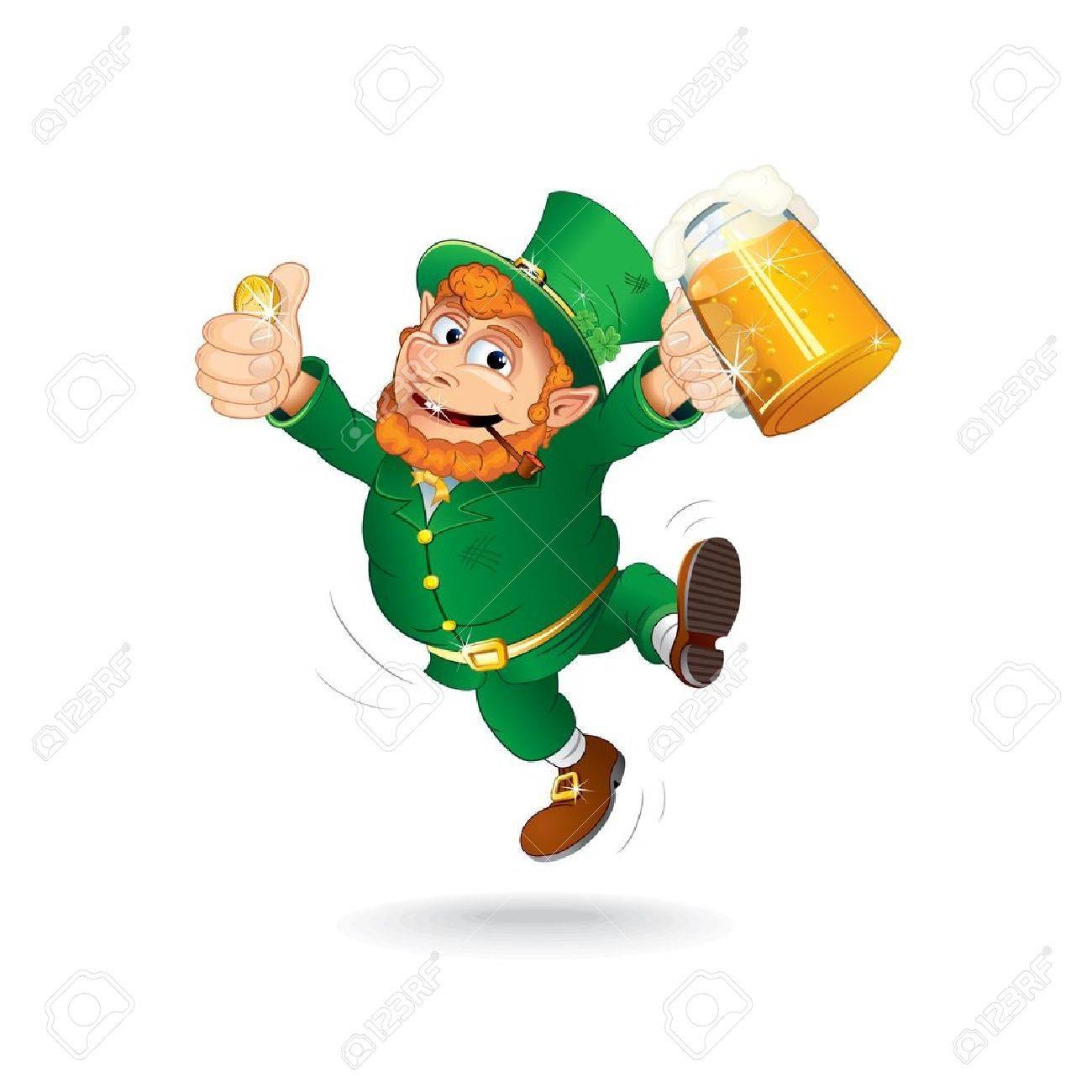 Uncategorized Are Leprechauns Irish cute jumping leprechaun isolated cartoon image royalty free stock vector 18002161