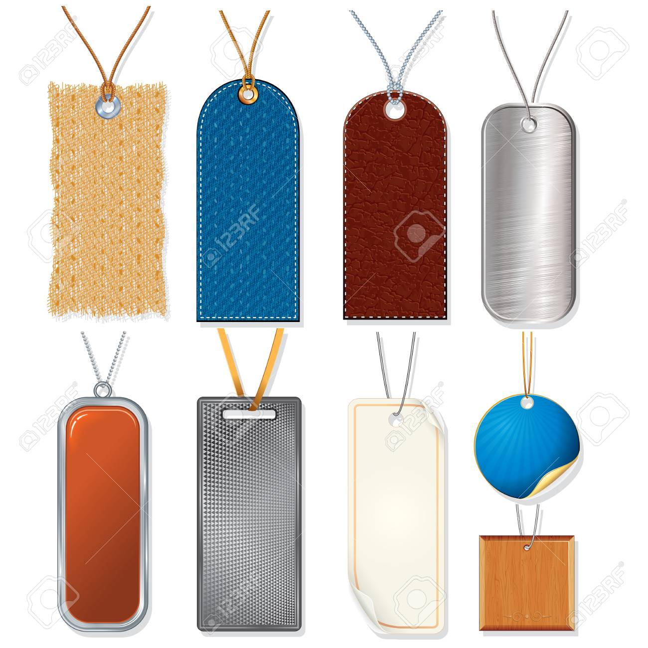 Collection of Various Sale Tags, Labels Stock Photo - 18002253