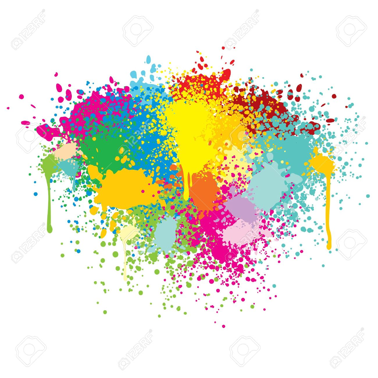 abstract colorful splashes vector background royalty free cliparts rh 123rf com paint splash vector cdr paint splash vector art