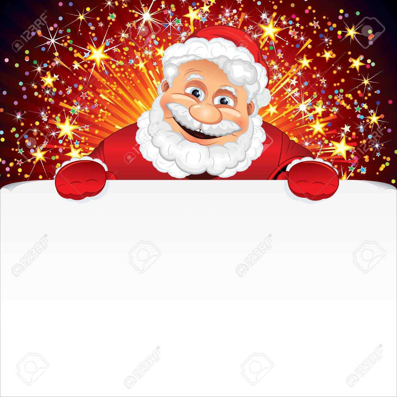 Santa Claus Greeting Card Stock Photo Picture And Royalty Free