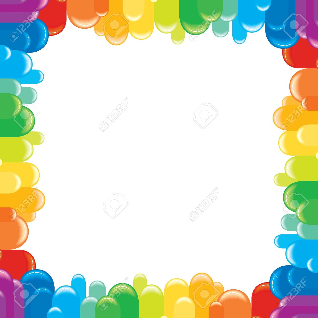 Funky Colorful Frame Vector Illustration Royalty Free Cliparts ...
