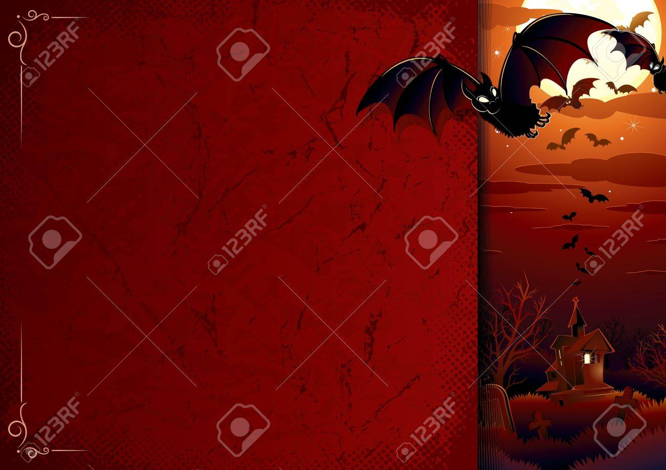 Poster with Halloween Scene Stock Photo - 20043219