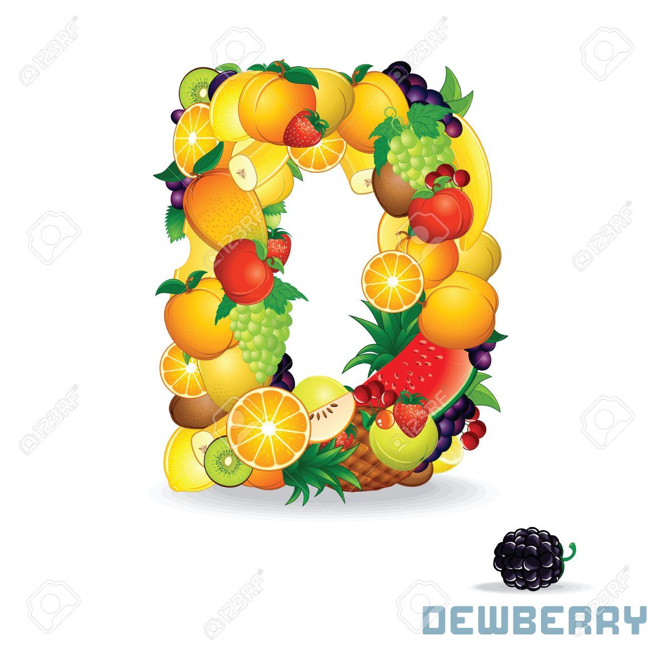 Alphabet From Fruit  Letter D Stock Photo - 20035542
