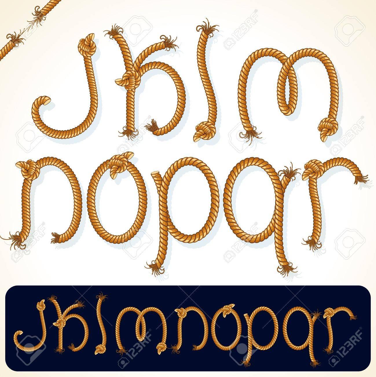 Detailed Rope Alphabet Illustration 2. Stock Illustration - 22957782