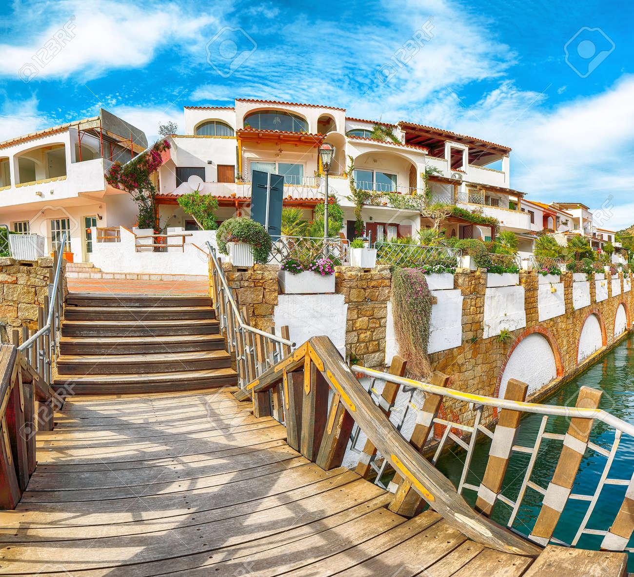 Enchanting view of Poltu Quatu town on Costa Smeralda. Popular travel destination of Mediterranean sea. Location: Poltu Quatu, Province of Sassari, Sardinia, Italy, Europe - 170378769