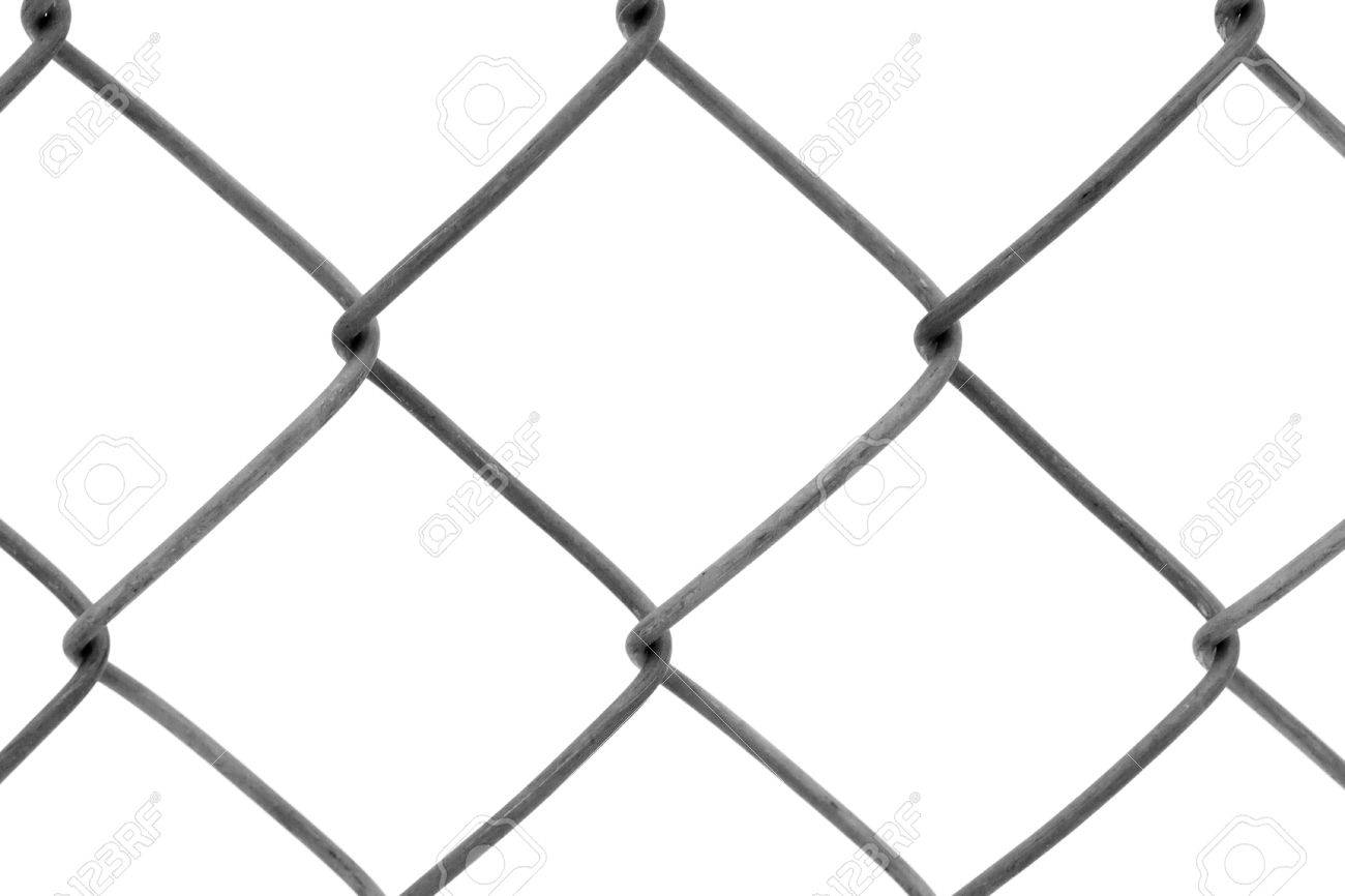 Chainlink fencing background texture pattern isolated on white background Stock Photo - 8636480