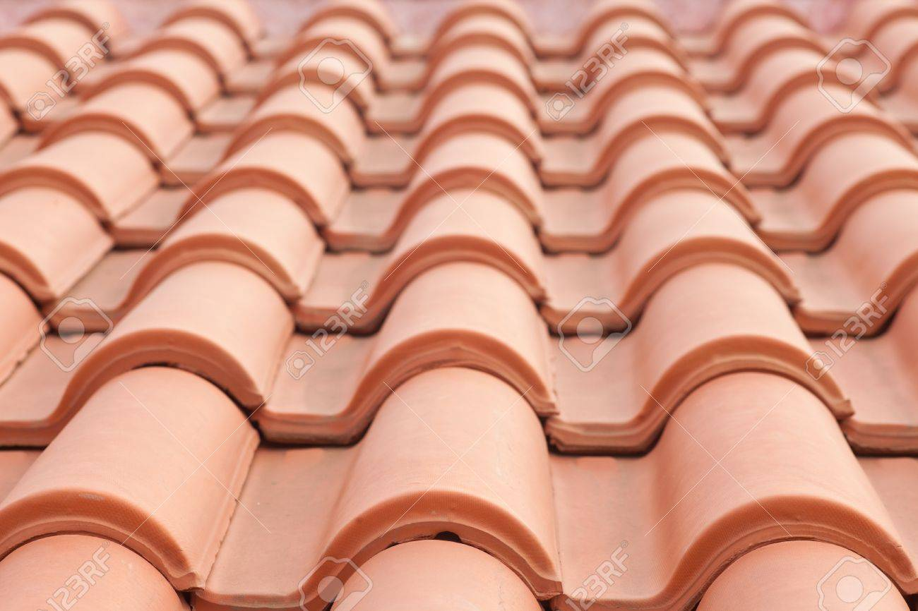 Background Texture Pattern Of Red Ceramic Roof Shingles Stock Photo    9364813
