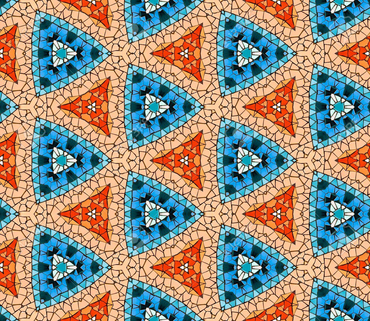 seamless patrn de mosaico de azulejos de alterados hexagonales baldosas cermicas reales dispuestas para formar