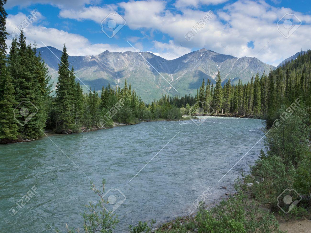 Scenic Landscape Of Boreal Forest Taiga Alpine Mountain Valley ...