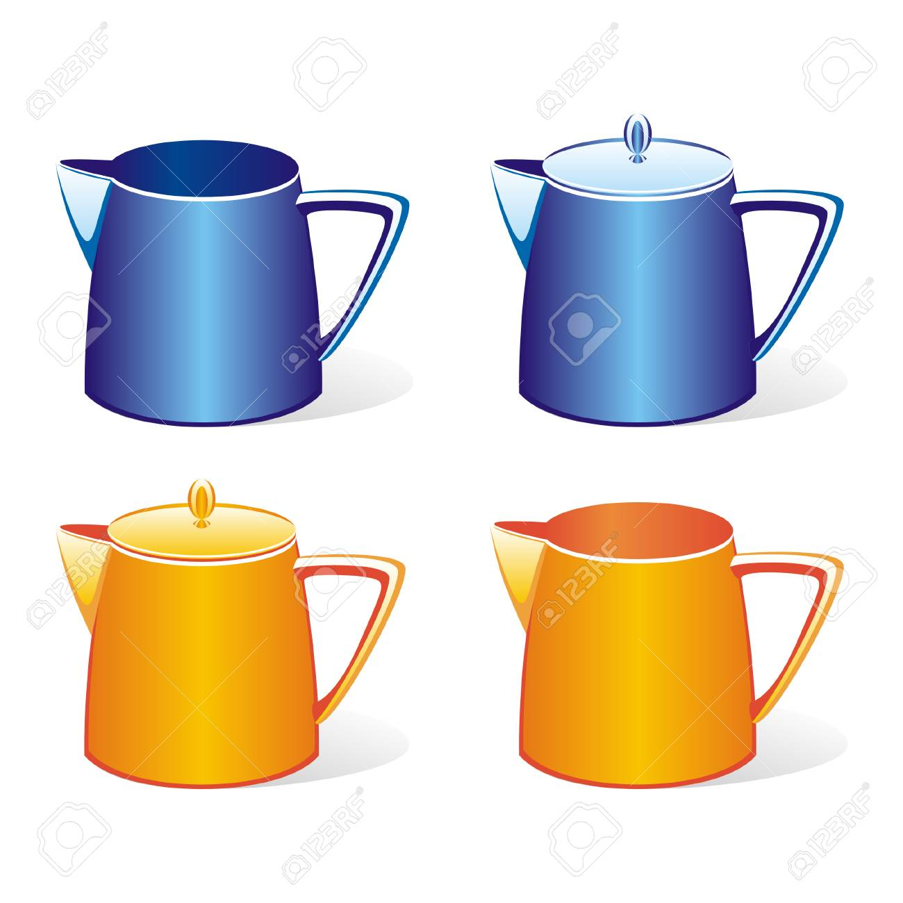 Vector illustration of isolated colored milk jugs set Stock Vector - 4302650