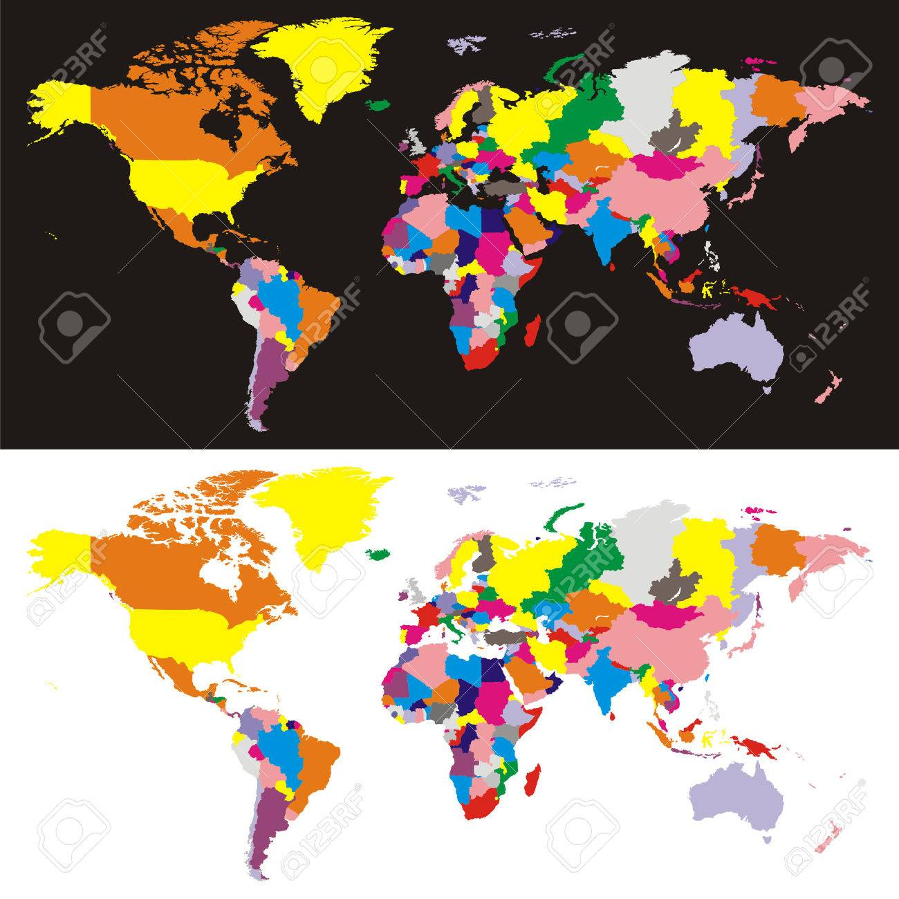 Fully editable vector world map with all countries in different fully editable vector world map with all countries in different colors stock vector 5605828 gumiabroncs Gallery