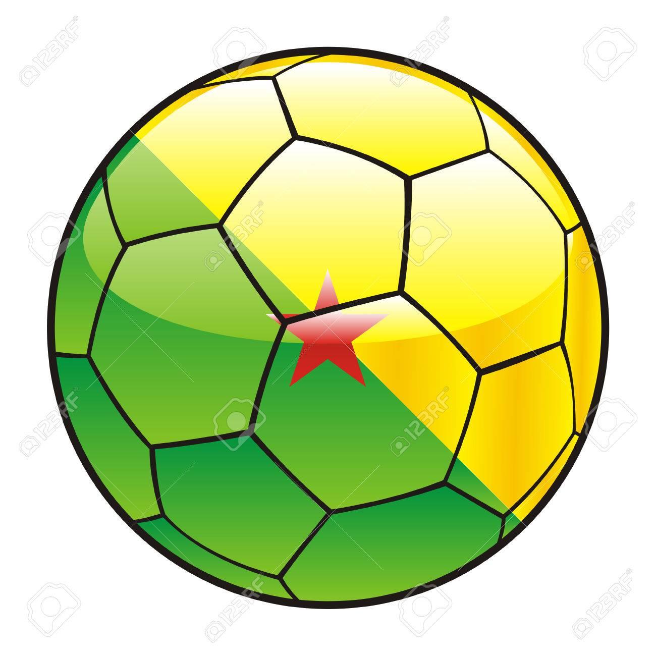 サッカー ボールのフランス領ギ...