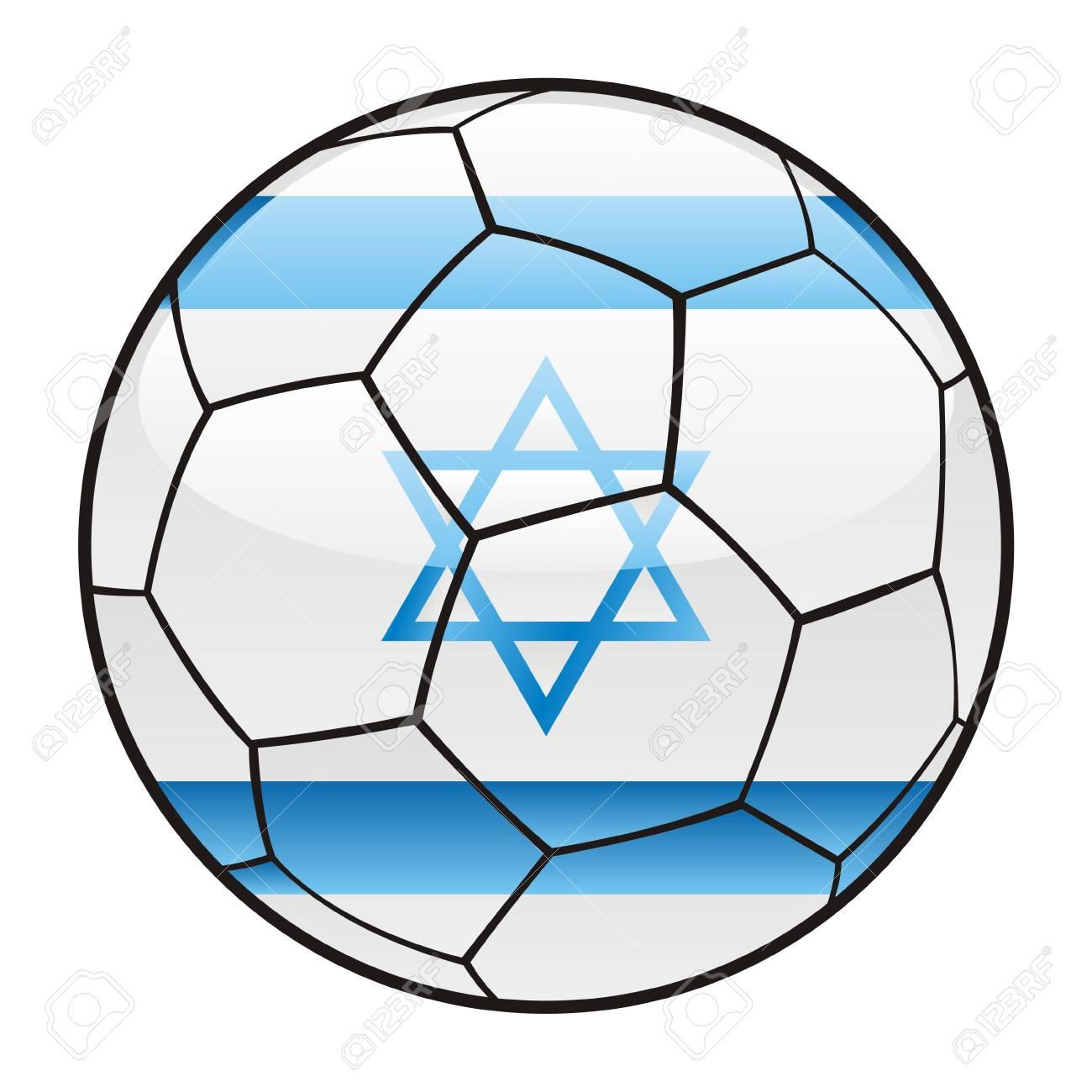vector illustration of Israel flag on soccer ball Stock Vector - 7370230