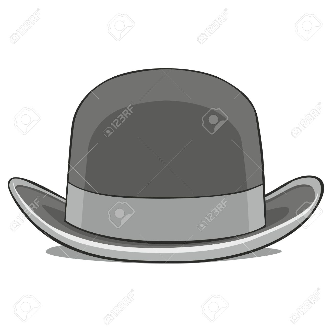fully editable  illustration of one hat derby Stock Vector - 7809980