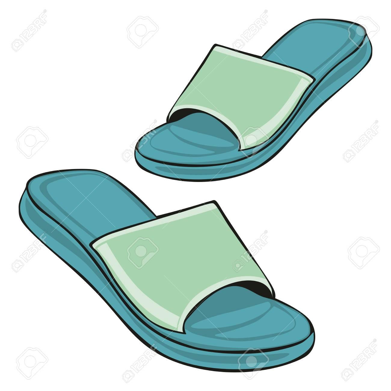 fully editable illustration slippers Stock Vector - 7830189