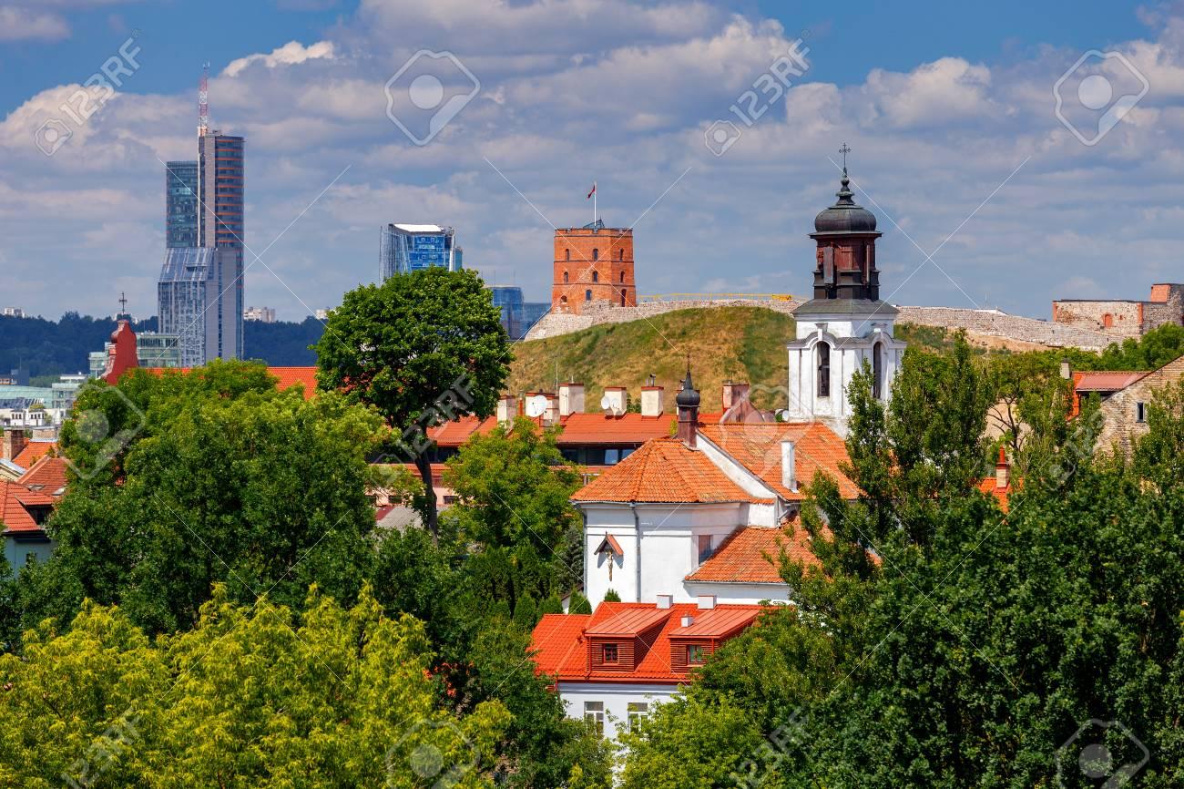Vilnius. Aerial view of the city. - 105521588