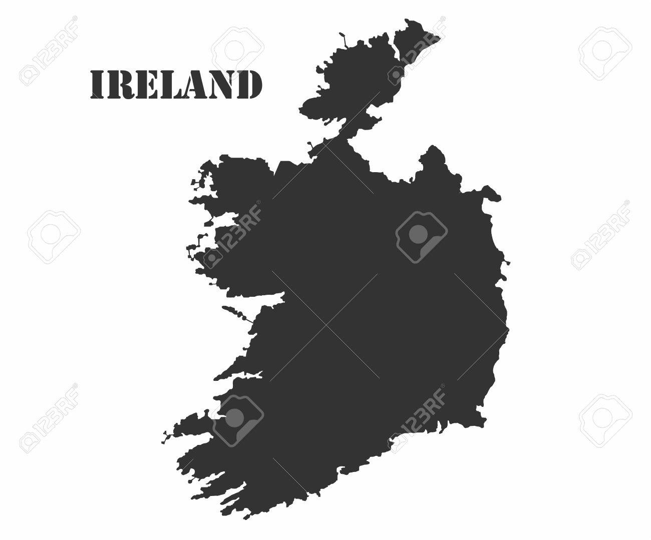 Map Of Ireland Vector.Concept Map Of Ireland Vector Design Illustration