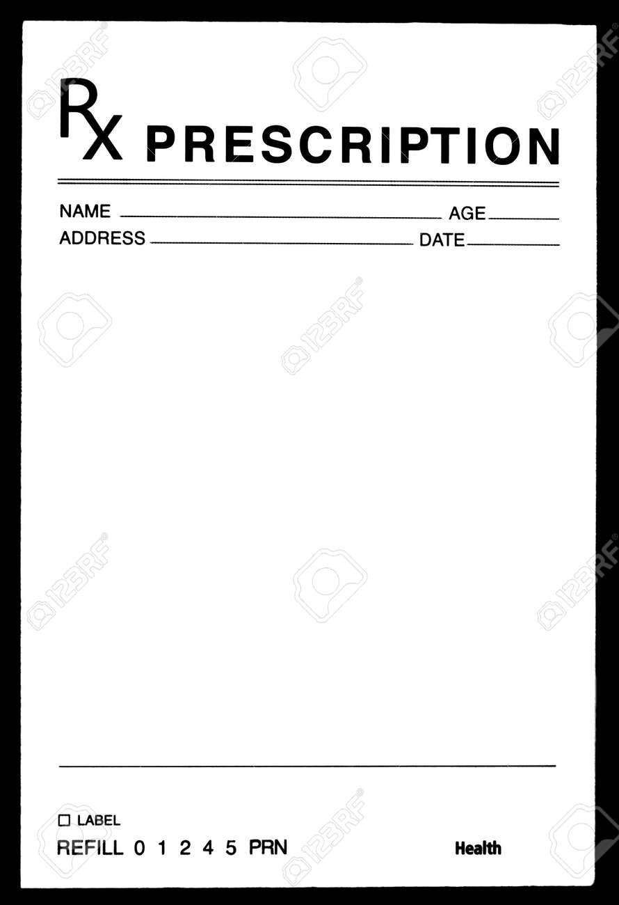 Blanked Prescription Drug Form Stock Photo, Picture And Royalty Free ...