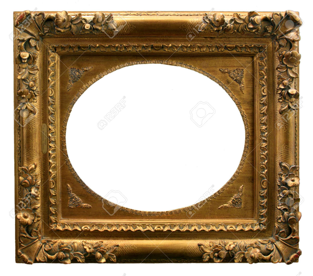 gilded gold picture frame ready for your insertion stock photo 5870532