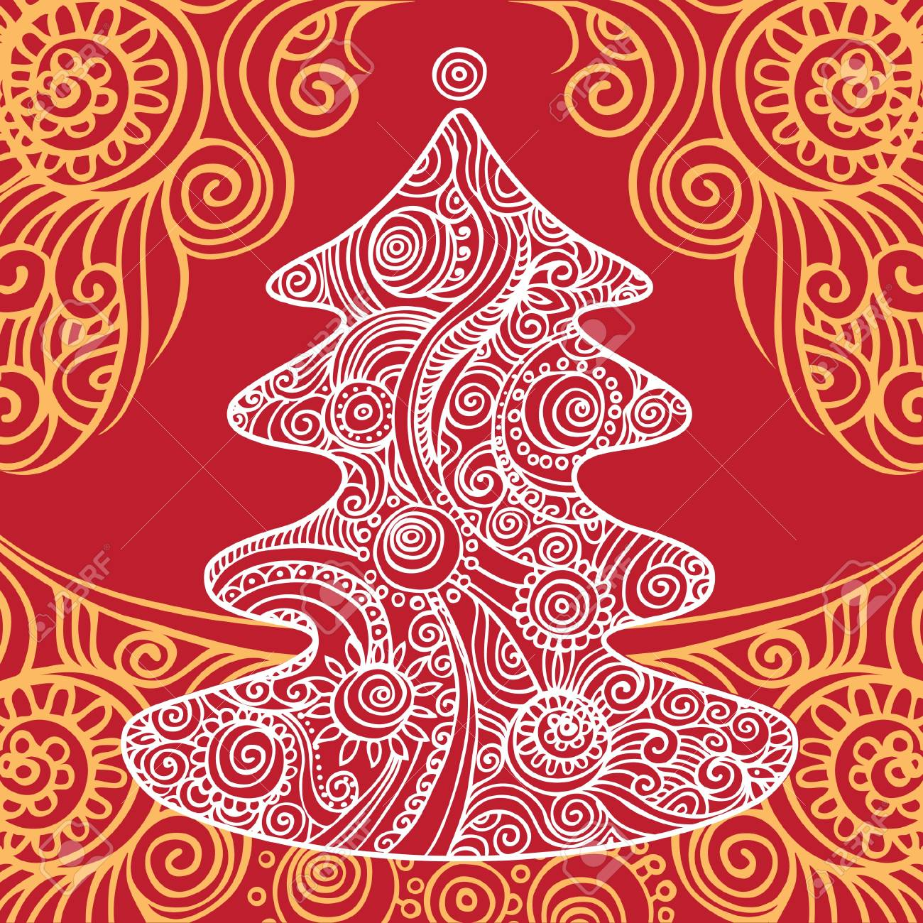 Stylish Christmas tree Stock Vector - 15857960