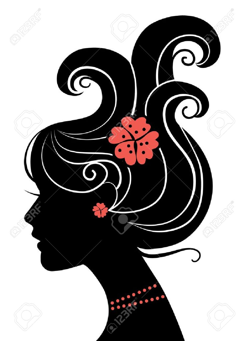 Beautiful girl silhouette Stock Vector - 15858145