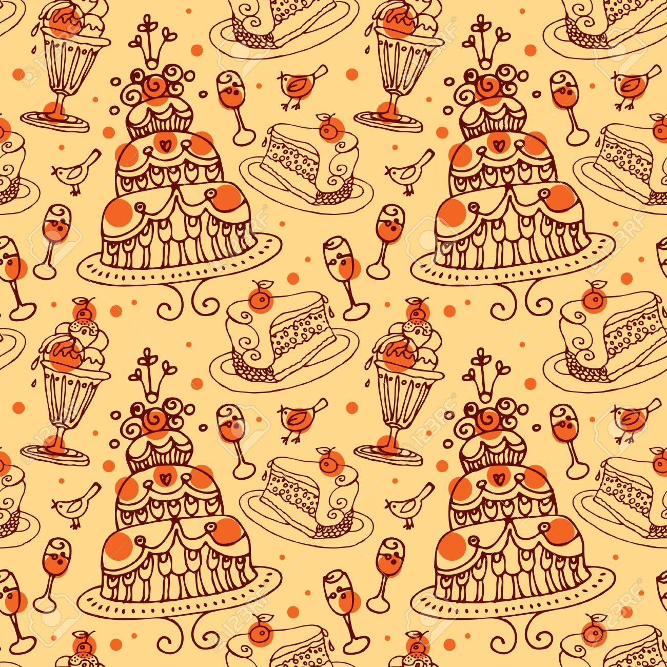 Seamless sweets pattern Stock Vector - 15907327