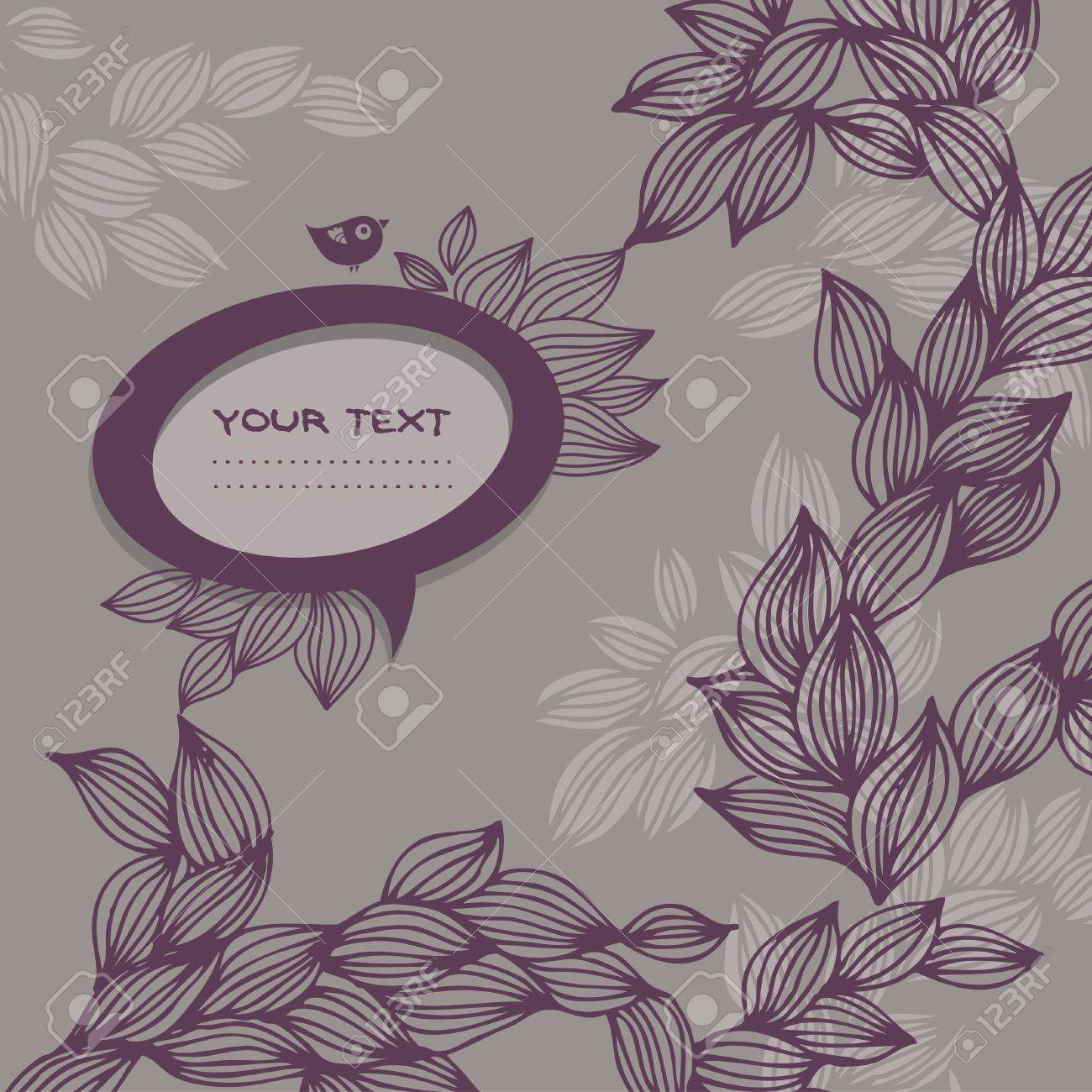 Doodle background with speech bubble frame Stock Vector - 16200909