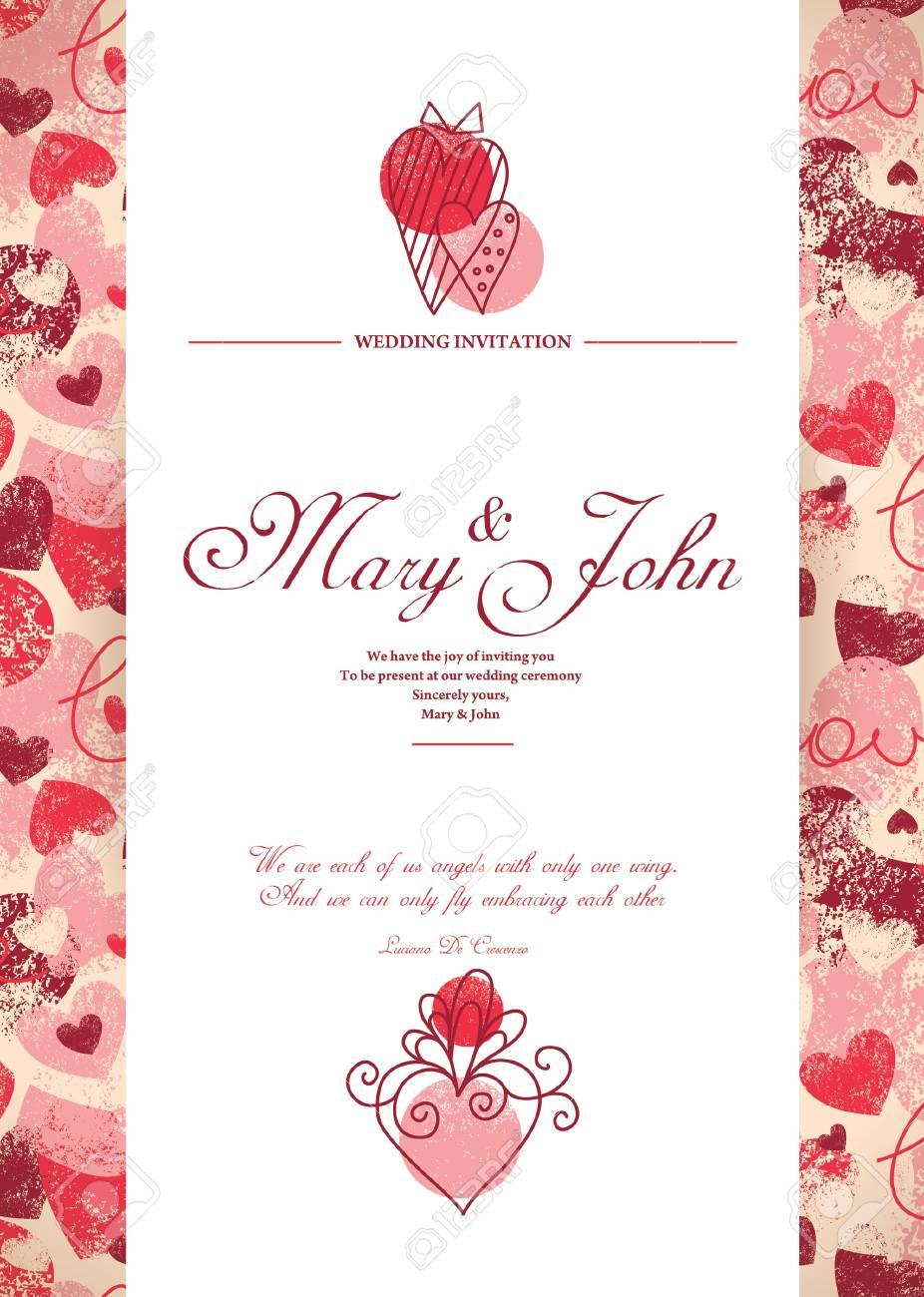 Hochzeitseinladungskarte Lizenzfrei Nutzbare Vektorgrafiken Clip