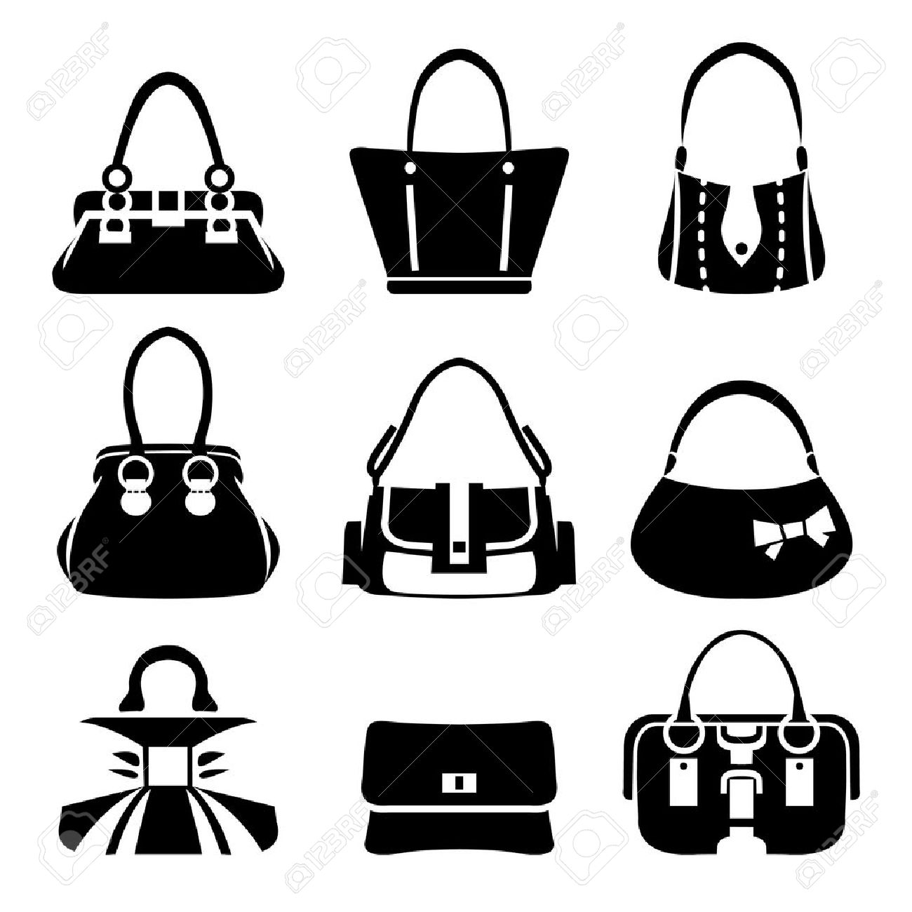 Vector Icons Of Female Bags Royalty Free Cliparts, Vectors, And ... 0e41b68c6d