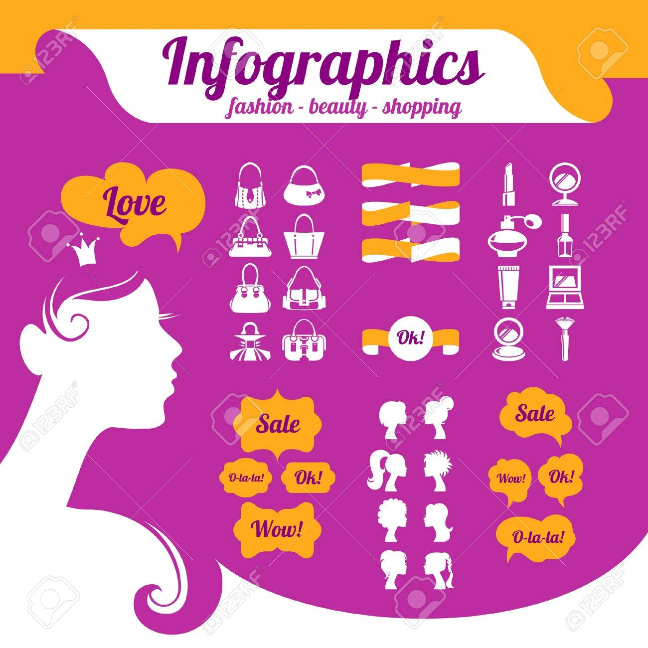Fashion women's infographics Stock Vector - 18435947