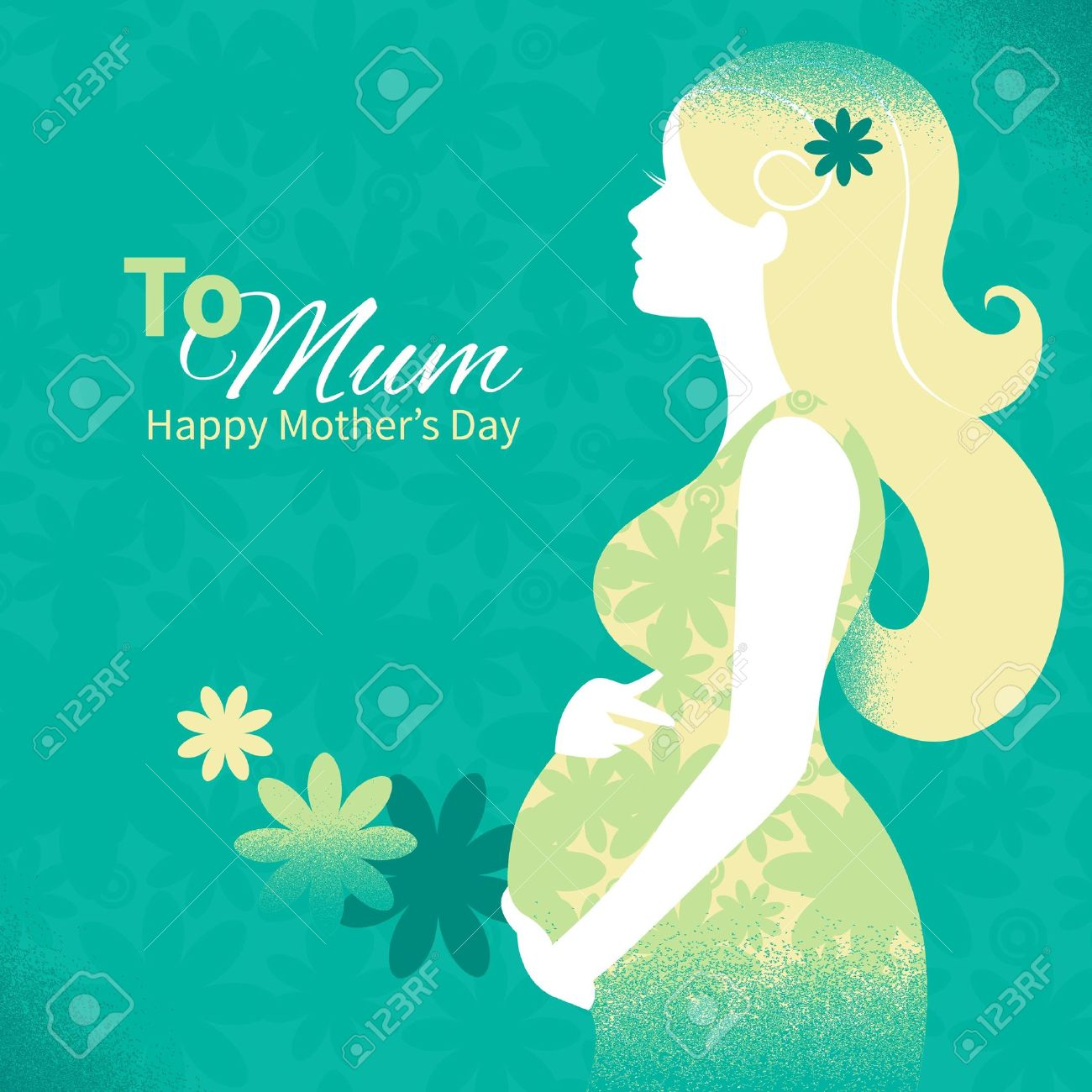 Background with silhouette of pregnant woman Stock Vector - 18815572