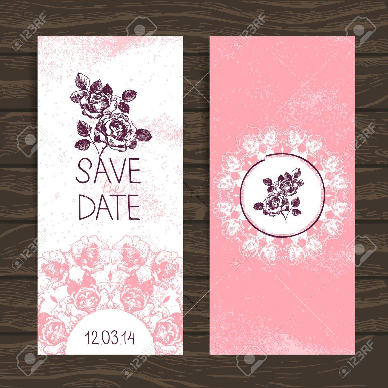 Wedding invitation card Stock Vector - 20027935