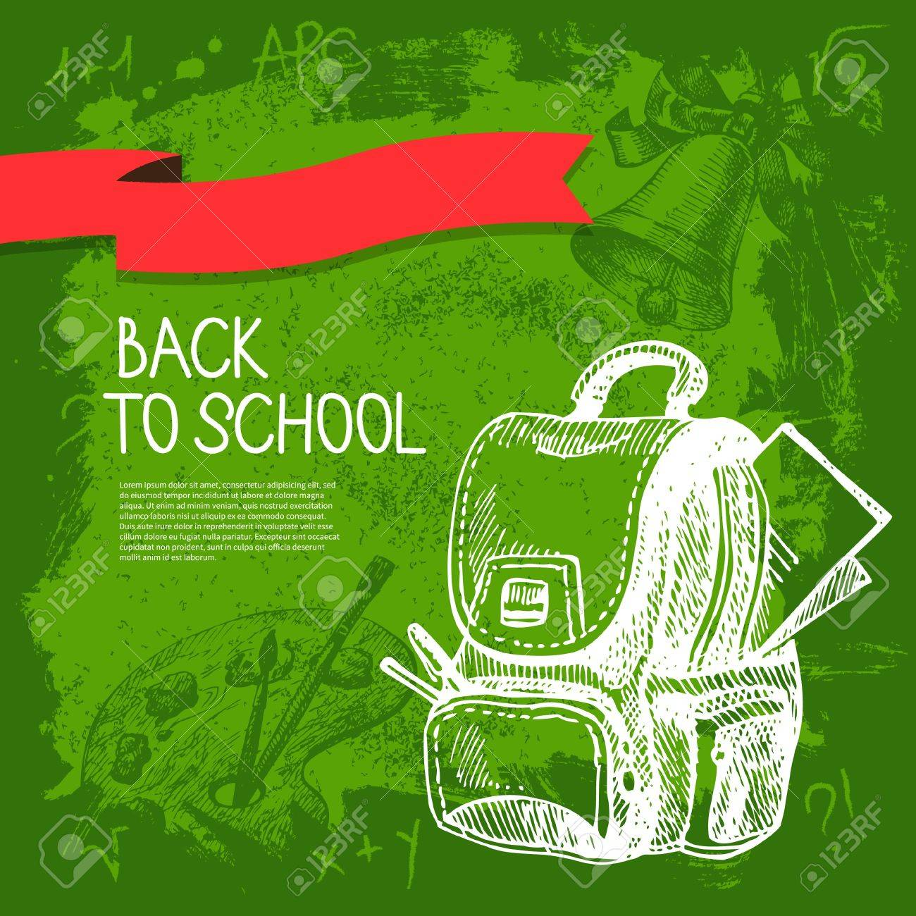 Back to school vector design. Hand drawn vintage  background Stock Vector - 20913314