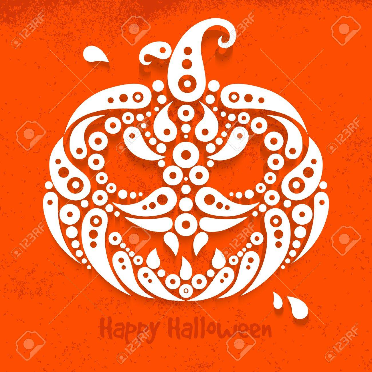 Halloween pumpkin. Decorative pattern silhouette of pumpkin Stock Vector - 21709726