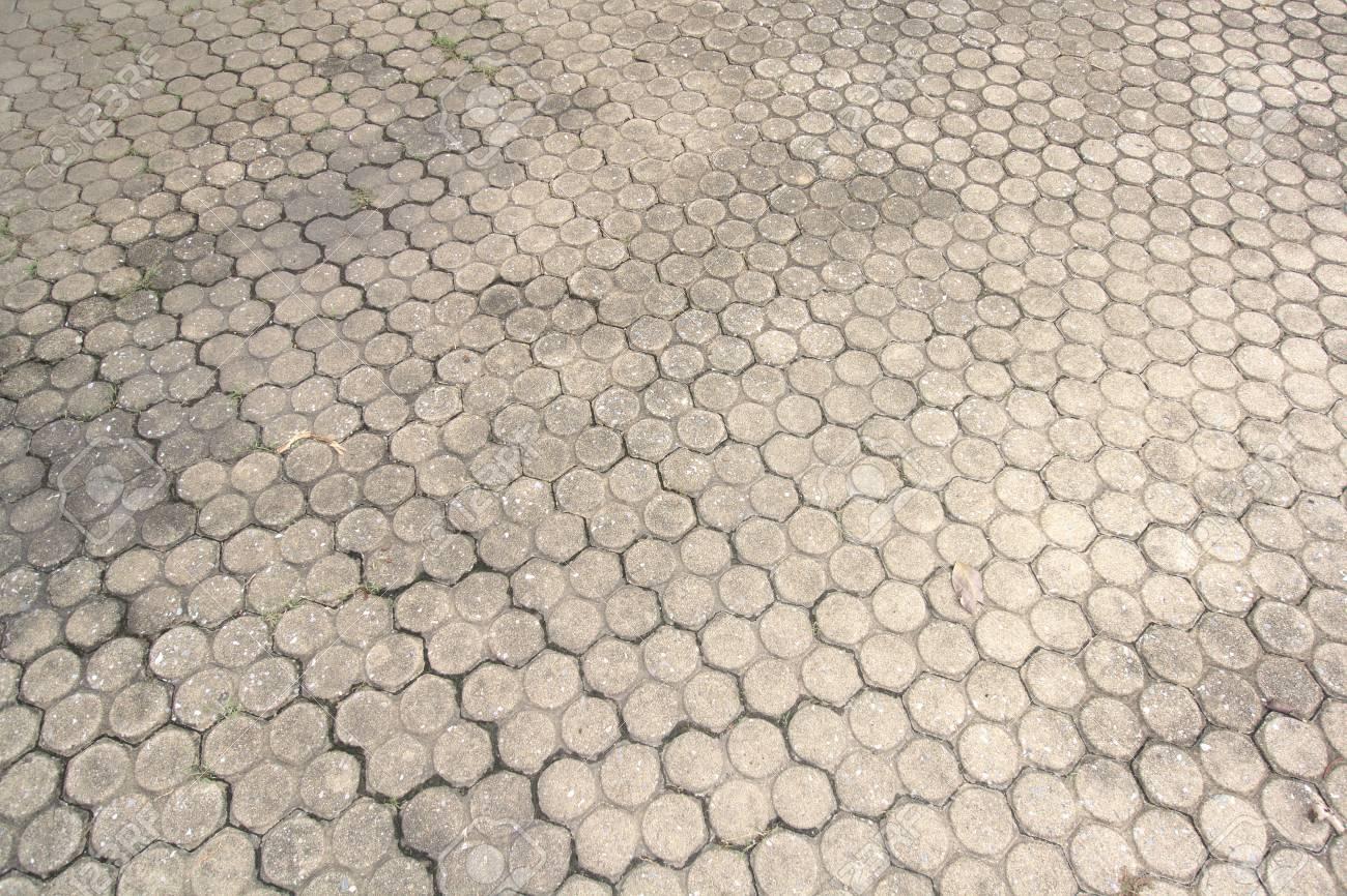 Gemusterten Bodenfliesen Zement Ziegelboden Hintergrund Lizenzfreie