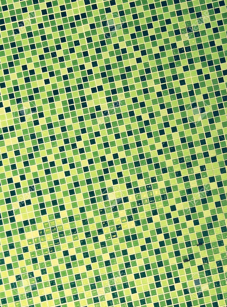 GrünMosaikFliesen Wand VintageStil Lizenzfreie Fotos Bilder Und - Fliesen vintage stil