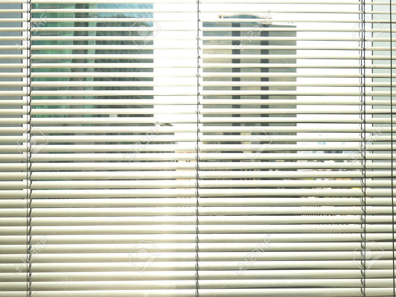 Window Grey Metallic Jalusie Sunblinds Background Office Stock Photo Picture And Royalty Free Image Image 65208839