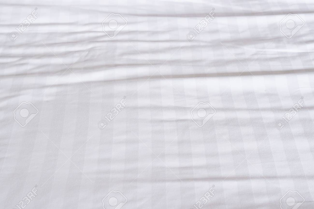 Stock Photo   White Bed Sheets Texture
