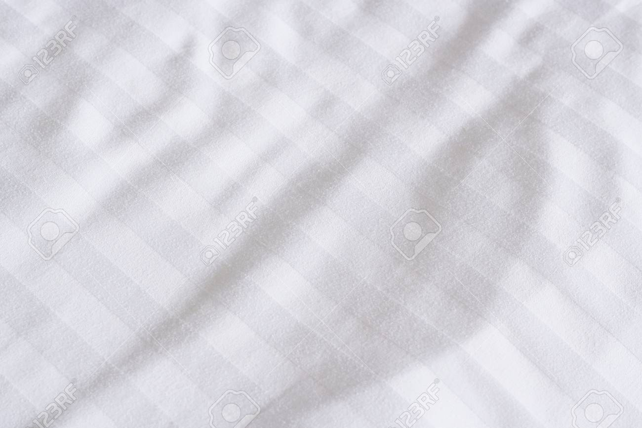 white bed sheets texture. Stock Photo - White Bed Sheets Texture U