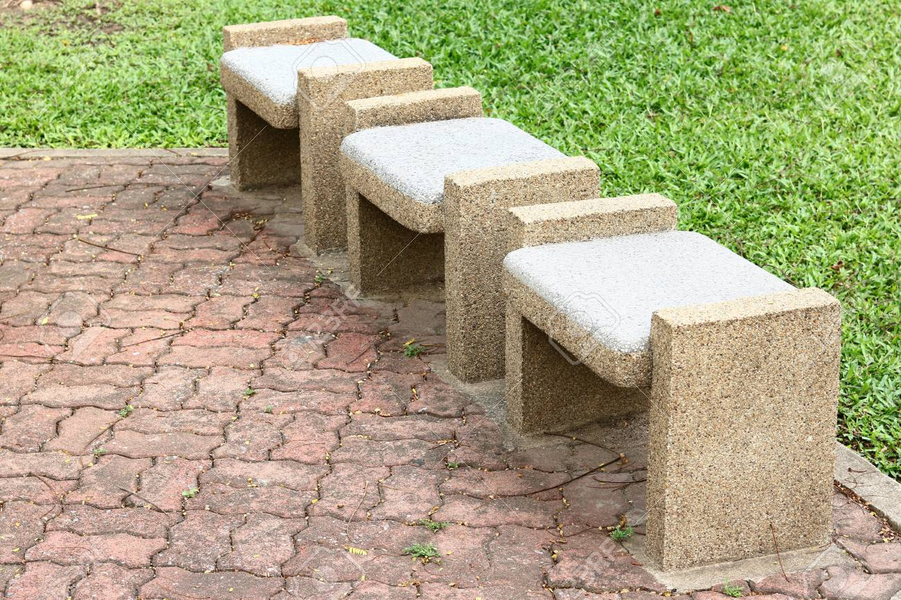 Marvelous Stone Benches Seats In The Park Bralicious Painted Fabric Chair Ideas Braliciousco