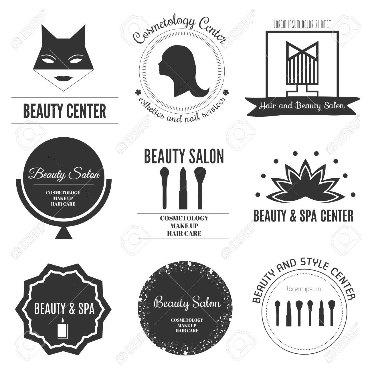 Set Of Modern Beauty And Spa Logo Templates Labels And Badges - Free modern logo templates