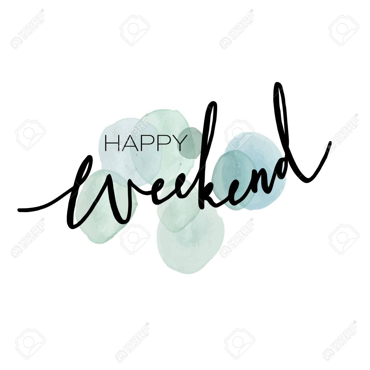 Hand drawn lettering happy weekend design for greeting cards happy weekend design for greeting cards posters print invitations m4hsunfo