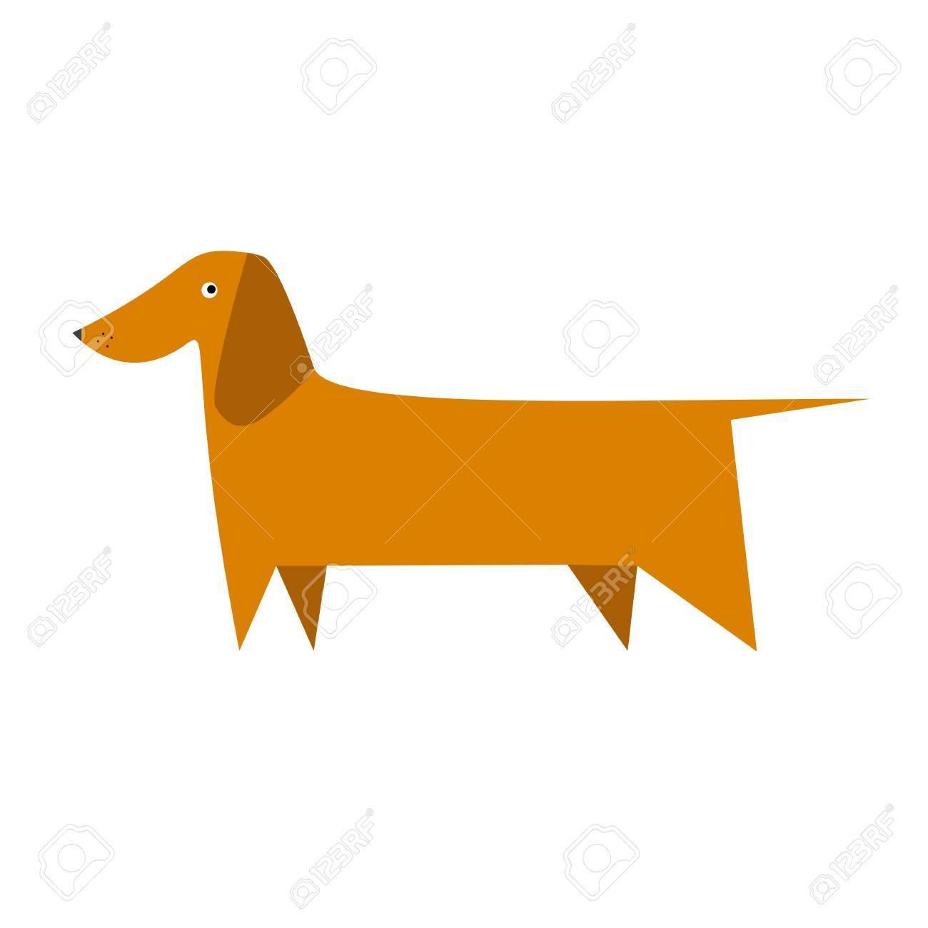 dachshund vector illustration vector flat illustration of dog