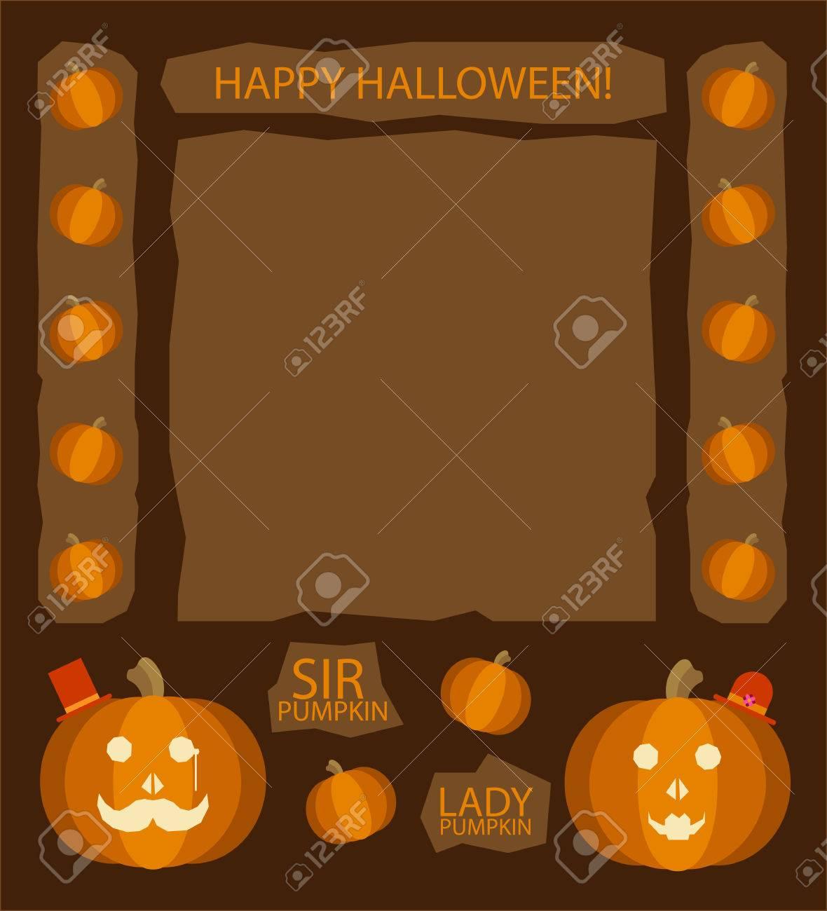 Zucche Di Halloween Cartoni Animati.Zucche Di Halloween Sir E Lady Zucca Personaggi Dei Cartoni Animati Retro