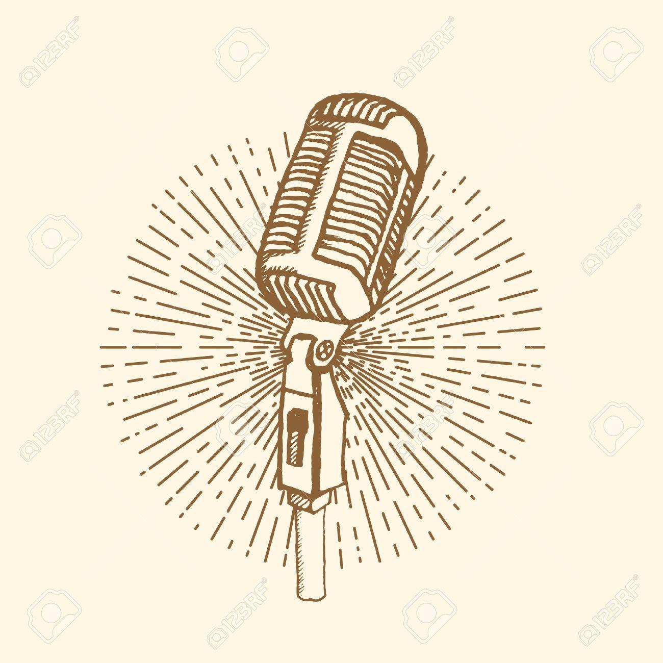 Microphone clip art | Etsy
