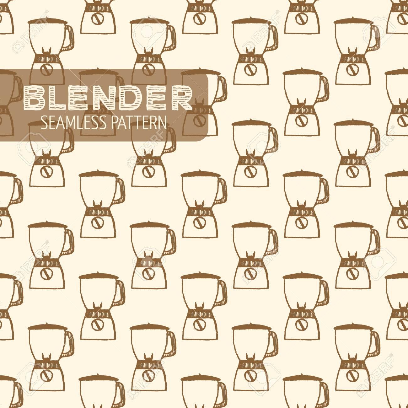 Blender pattern. Vintage style, plume et encre tirée par la main. Vector seamless pattern. Retro élément de design pour l'emballage magasin