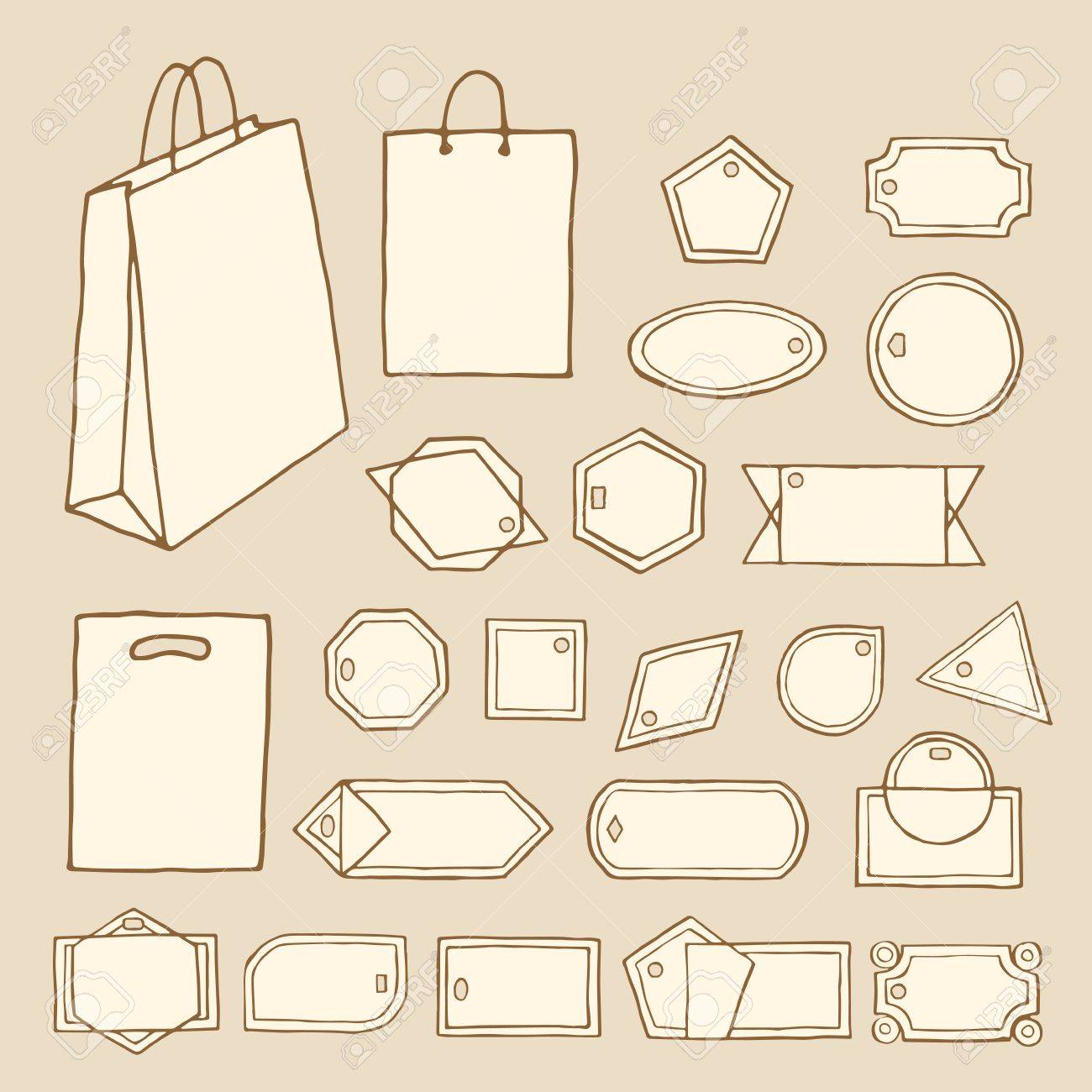 Big Set Of Vintage Vector Tags, Frames, Labels, Shopping Bags ...