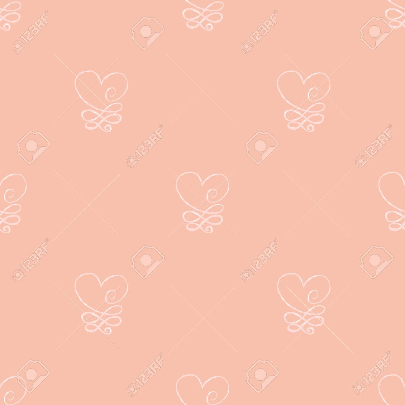 Heart Seamless Pattern Design Element For Wedding Greeting Card